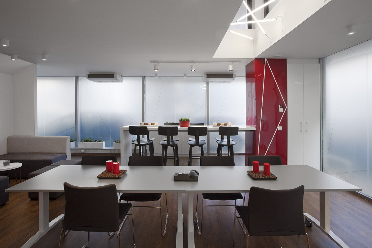 Architectural design of 3M's meeting room in Athens