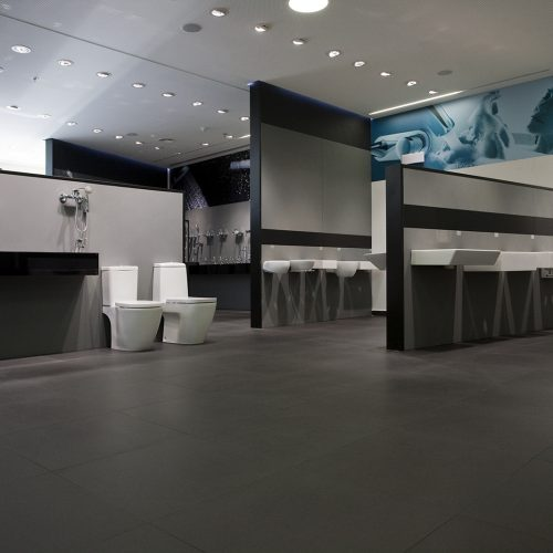 Kypriotis, bathroom retailer. Designed by Stirixis. Athens. Photo by Cathy Cunliffe 2009