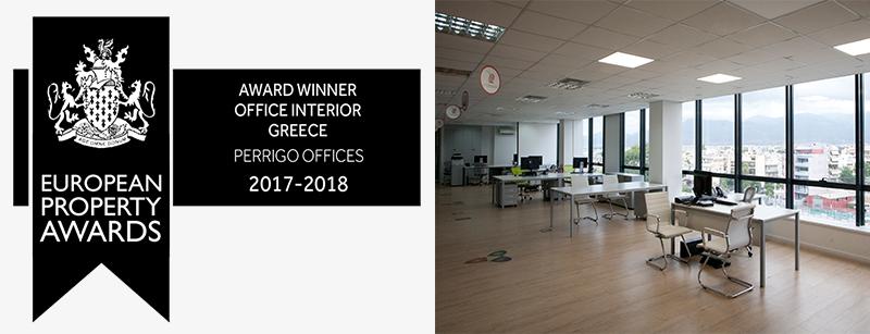 Perrigo Offices - Best office interior award