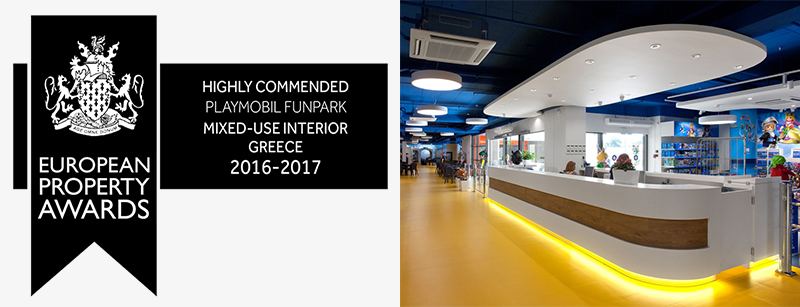 7 Intl. Property Awards 2016 Playmobil Funpark and Retail, Athens, Greece