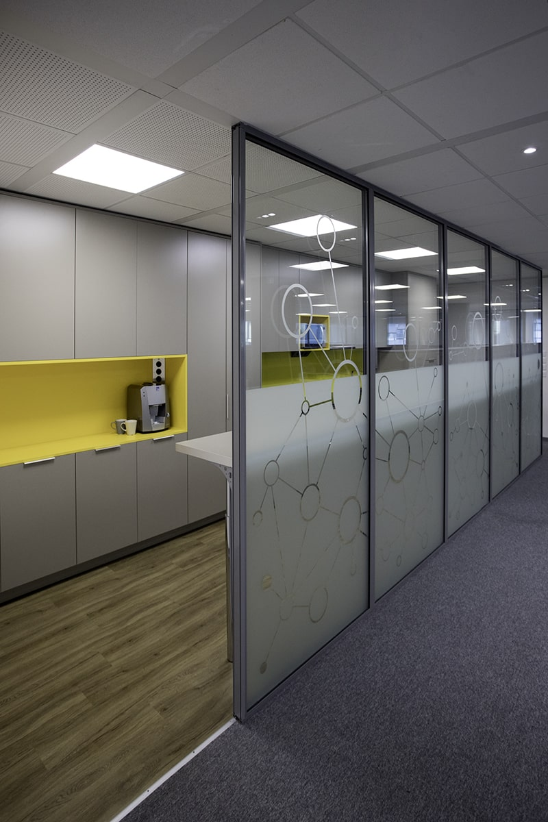 Open plan office design by Stirixis Group