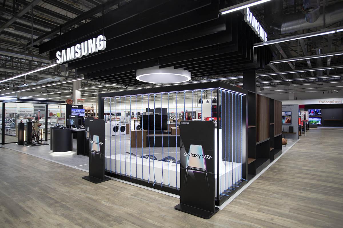 Samsung shop-in-shop retail concept